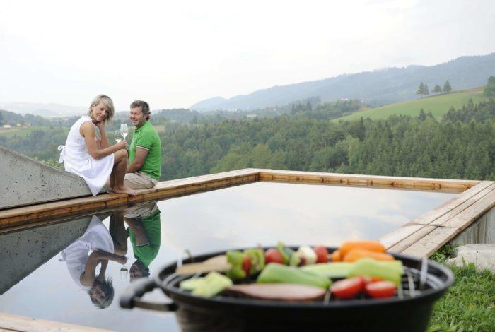 Ferienhaus Steiermark Grillen am Pool