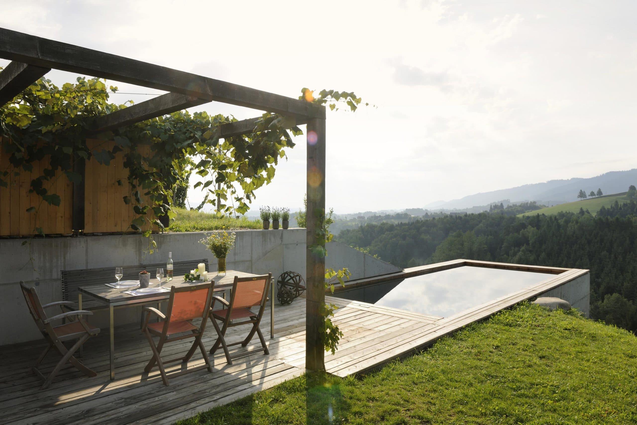 Ferienhäuser Südsteiermark Terrasse
