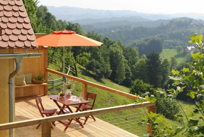 Ferienhäuser Österreich Terrasse